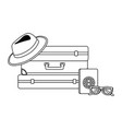 suitcase and travel design vector image vector image