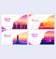 top rated tourist attractions in china brochure vector image vector image