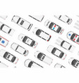 top view of white cars seamless pattern vector image vector image