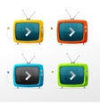 Tv set vector image