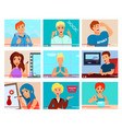 video bloggers characters flat set vector image vector image