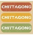 Vintage Chittagong stamp set vector image