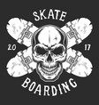 vintage skateboarding logotype template vector image vector image