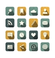 Vintage social media icons set vector image vector image