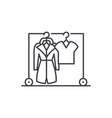 wardrobe line icon concept wardrobe linear vector image vector image