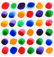 Watercolor circles seamless pattern with red vector image vector image