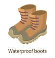 waterproof boot icon isometric style vector image vector image