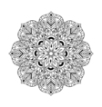 Zentangle Mandala in monochrome doodle style Hand vector image