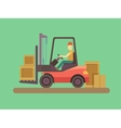 Loading and unloading machine vector image