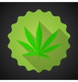 Smoking Marijuana Leaf Ganja Bad Habits Flat icon vector image