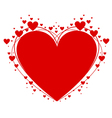 Heart symbol of Valentines Day vector image
