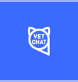 pets chat logo veterinarian chat vector image