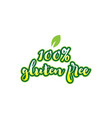 100 gluten free word font text typographic logo vector image