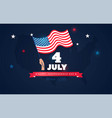 4 july usa independence day flyer banner or vector image vector image