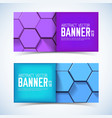 abstract geometric horizontal banners vector image vector image