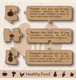 abstract healthy infographic concept vector image vector image