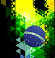 abstract style brazil flag vector image