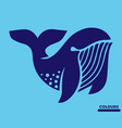 abstract white whale vector image vector image