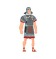 ancient rome warrior male roman legionnaire or vector image