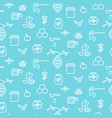 apiary blue outline icon seamless pattern vector image vector image
