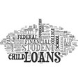 are you ready for your student s student loans vector image vector image