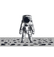 astronaut on rock surface with space background vector image vector image