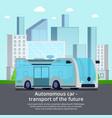 autonomous unmanned vehicle composition vector image vector image