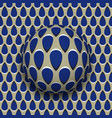 ball with a blue drops pattern rolls along blue vector image vector image