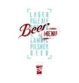 Beer menu design Vintage grunge beer poster vector image vector image