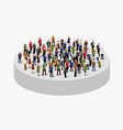 big people crowd in circle society concept vector image vector image