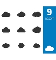 black cloud icons set vector image vector image