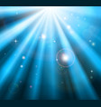 bright blue light rays background vector image vector image