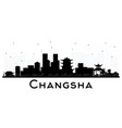 changsha china city skyline silhouette with black vector image vector image