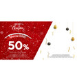christmas discount sale banner vector image vector image