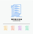 code coding compile files list 5 color line web vector image