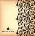 coffee vertical blur vector image vector image