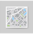 colorful city map icon template vector image