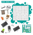 colorless crossword education game vector image vector image