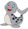 Cute baby seal cartoon vector image vector image
