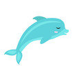 cute dolphin icon flat cartoon style isolated vector image vector image