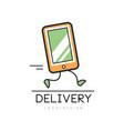 delivery logo design creative template vector image