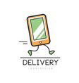 delivery logo design creative template with vector image vector image