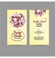 Design business card with floral bouquet vector image vector image
