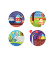 easter icons set vector image