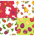 easter poster colorful pictures vector image