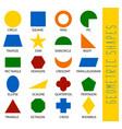educational geometric shapes set understanding of vector image