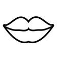 female lips linear vector image