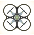 flat quadcopter drone vector image