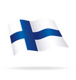 flying finnish flag of finland silk suomi vector image vector image