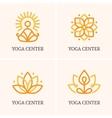 Four yoga logo vector image vector image